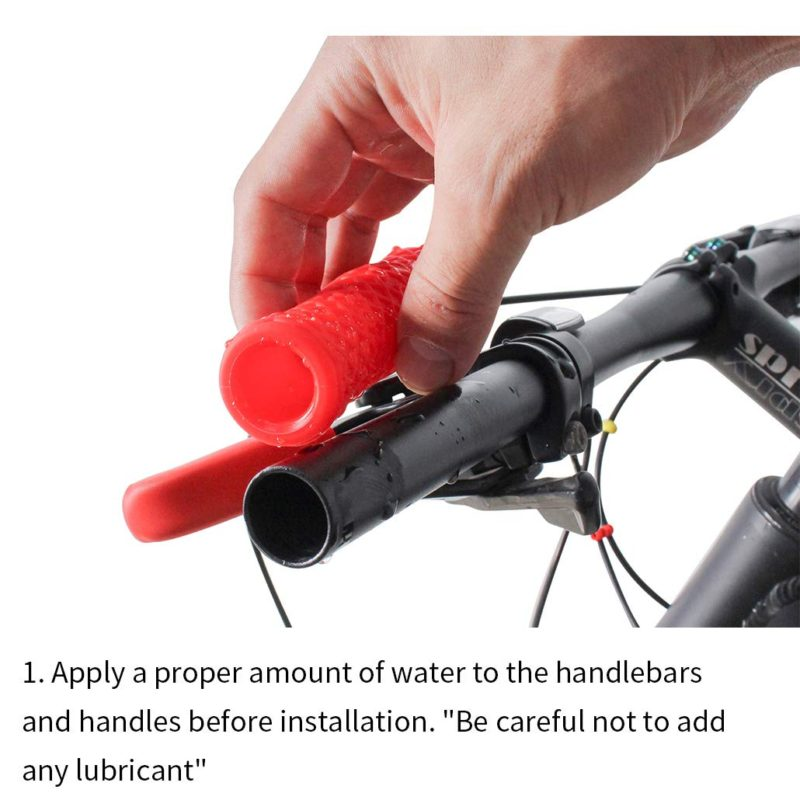 MTB Bike Cycling Handlebar Grips Silicone Grip End Plugs Fit 22.2mm Diameter Bar