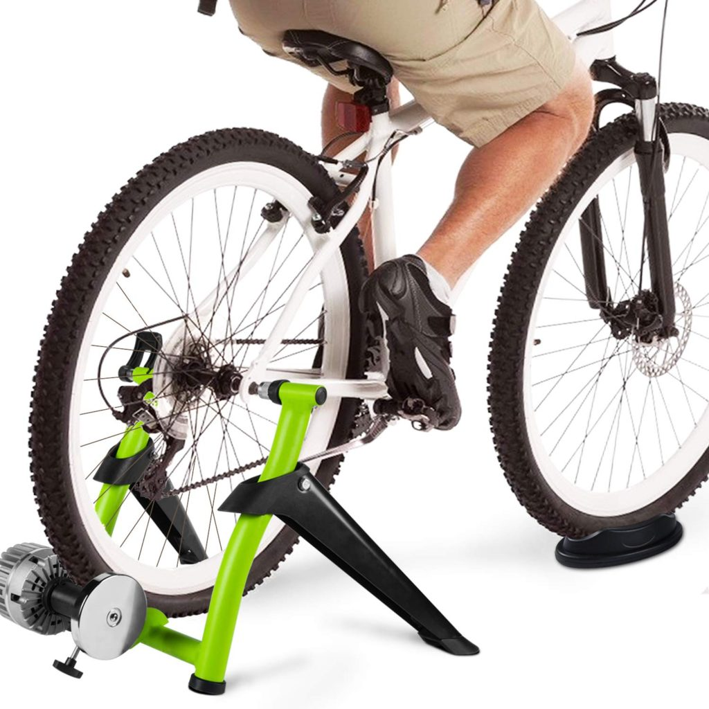 Indoor Bike Trainer Magnetic Bicycle Exercise Stand w// Front Wheel Riser