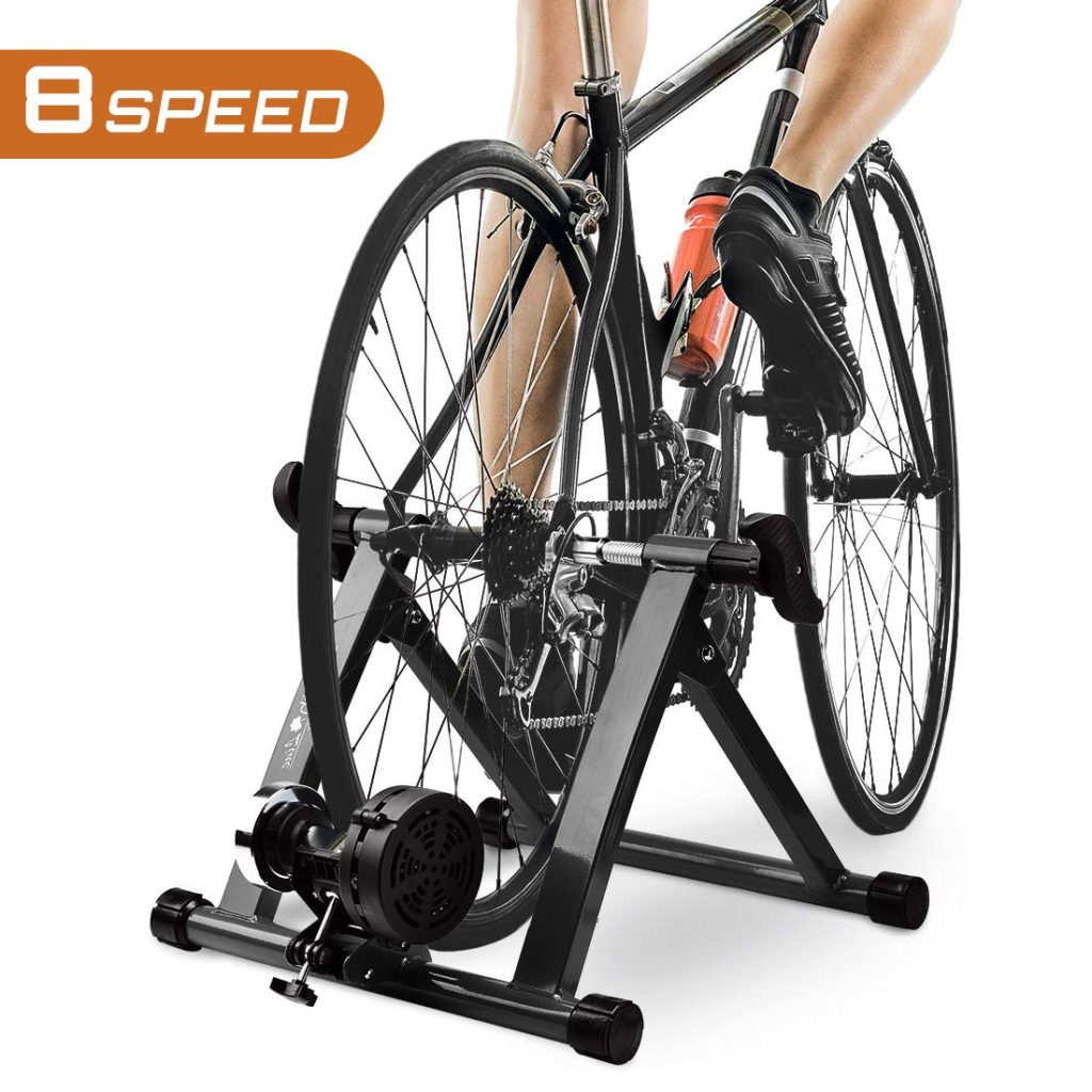 Portable Indoor Magnetic Resistance Bicycle Trainer Station Bike Exercise Stand