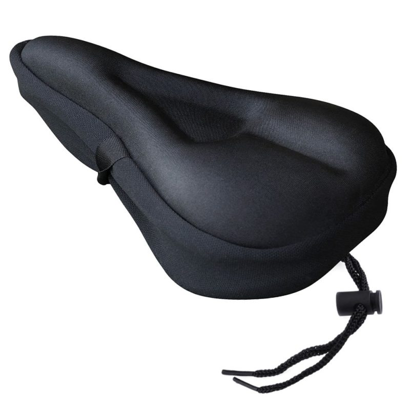 Gel Bike Seat Cover Padded Bicycle Covers Men Comfort Extra Soft Spin Cushion