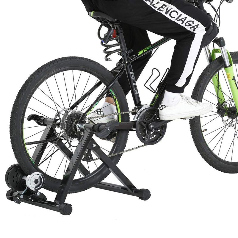 Exercise Stand Bicycle Trainer Black Stand Wired Iron Bicycle Practice Indoor