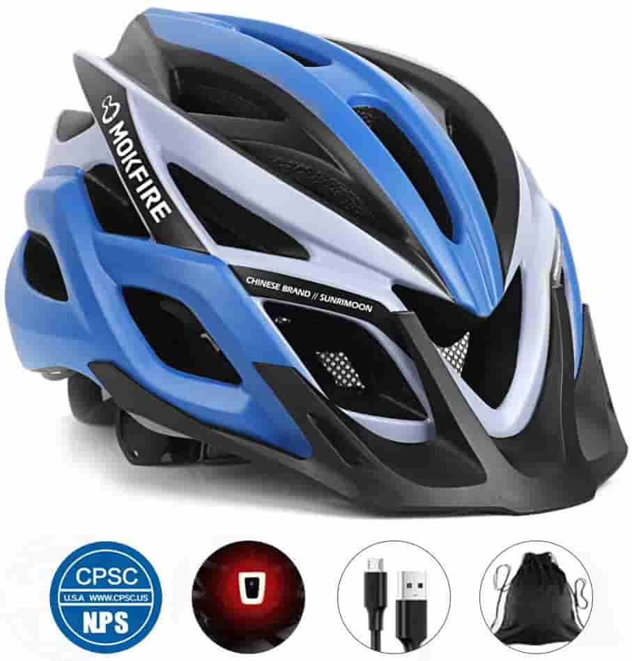 PHZ Adult Bike Mount Helmet LedLight Detachable Road Ride Bicycle Men Women CPSC