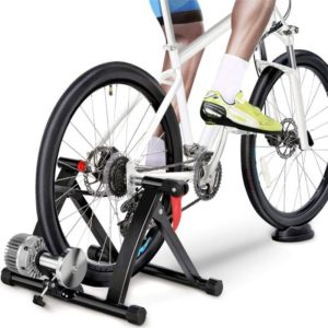 The Fellie Bike Trainer Stand Indoor Bike Magnetic Turbo Trainer Foldable Bicycle Training Stand for Home Exercise Fitness